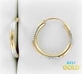 золотые серьги-конго