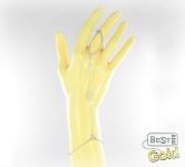 Серебряный слейв-браслет с фианитами