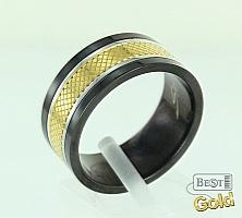 Кольцо из керамики и стали