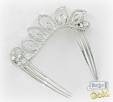 Серебряная заколка для волос с фианитами