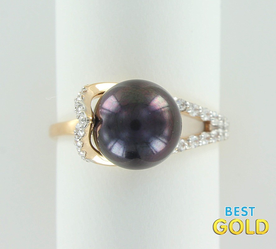 кольца с жемчугом золото кострома