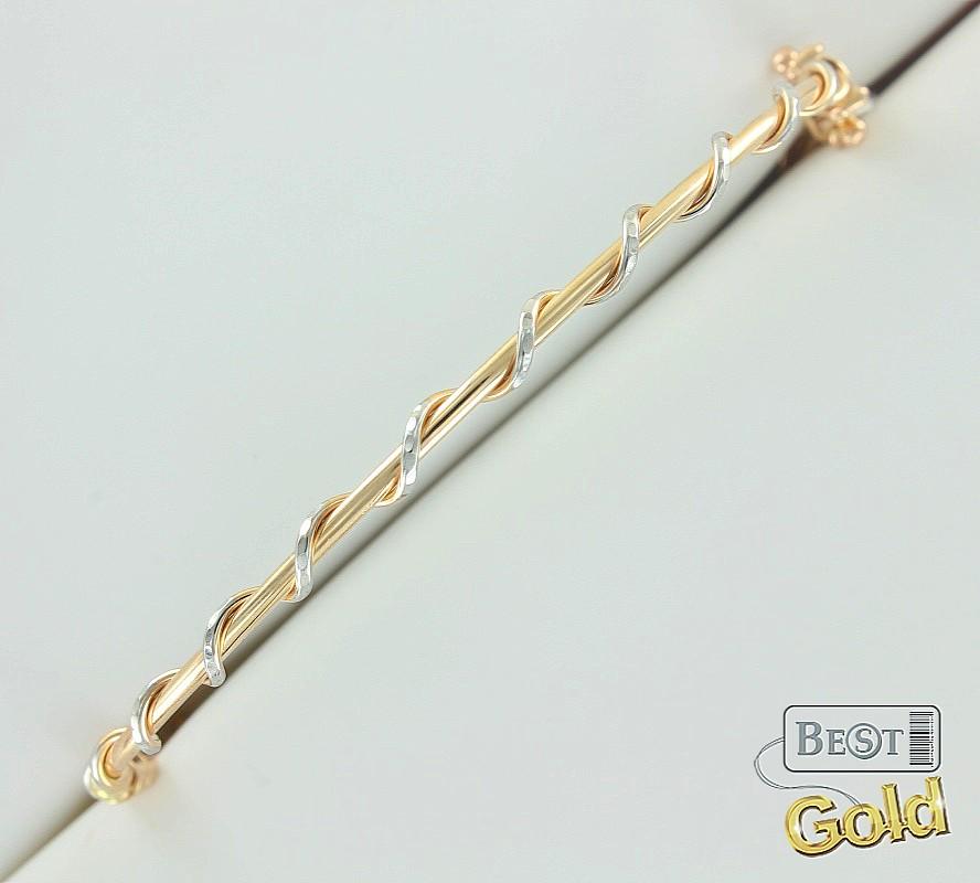 золотой браслет жесткий цена в москве