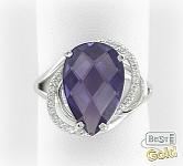 Серебряное кольцо с александритом