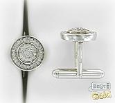 Серебряные запонки с цирконами