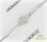 серебряный браслет с цирконием