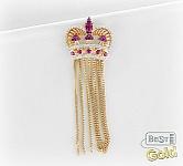 золотая подвеска корона