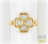 золотое кольцо счастливый клевер