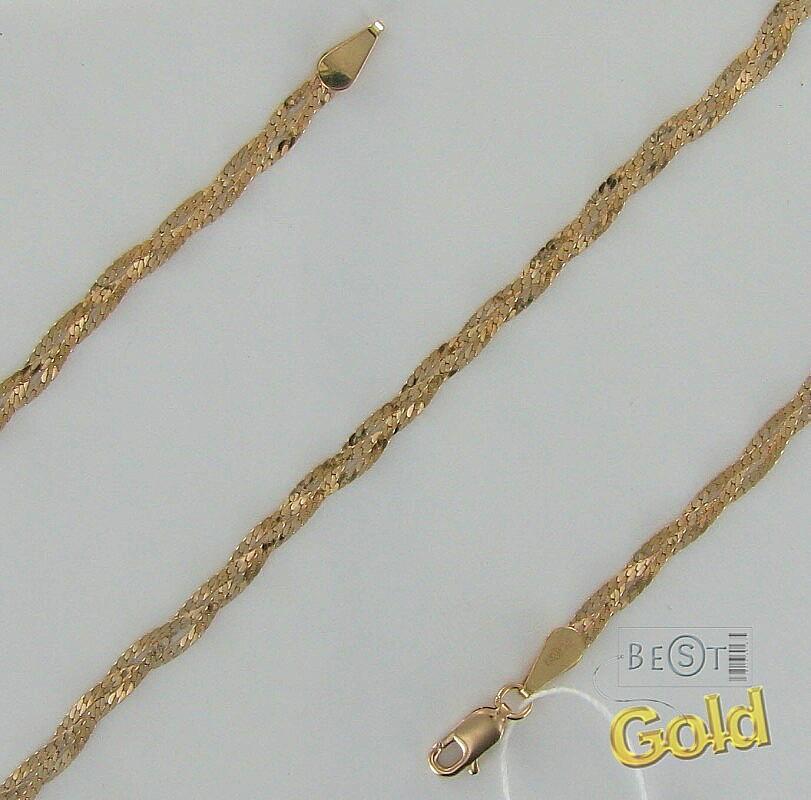 Золотой браслет `Улитка`.  Ширина 1,0 мм.  Теплое сияние золота, гибкое...