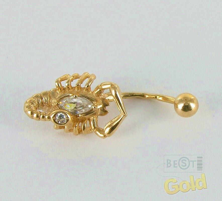 Пирсинг в пупок золото купить в спб
