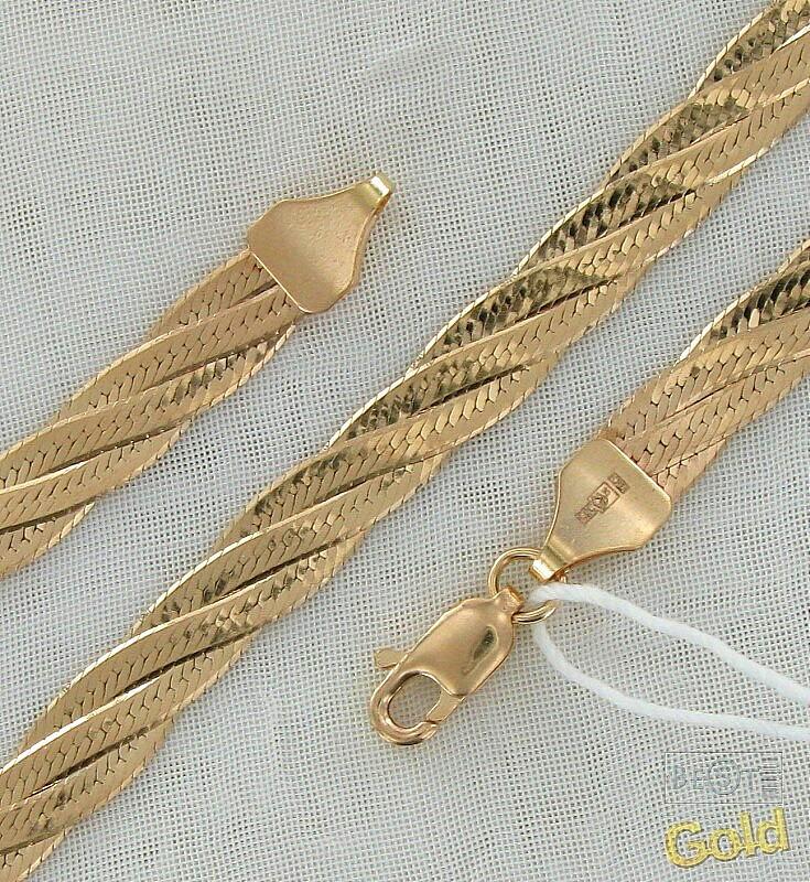 Цепочка плетение коса