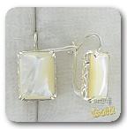 Серебряные серьги с перламутром