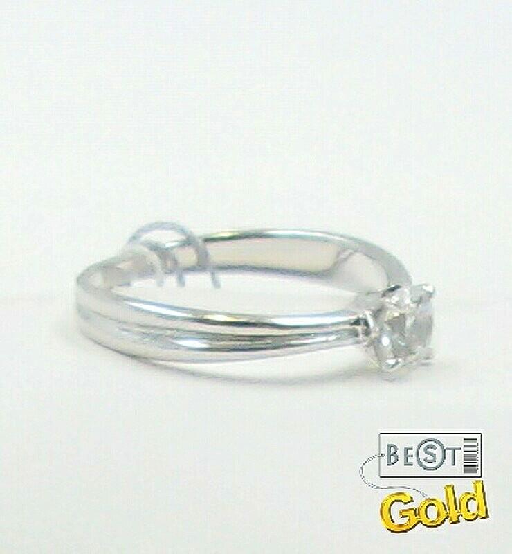 Помолвочное кольцо из белого золота