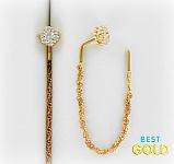 золотые серьги-протяжки
