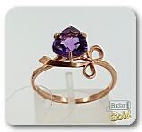 Серебряное кольцо с аметистом