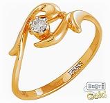 """Золотое кольцо с бриллиантом """"Вдохновение"""""""