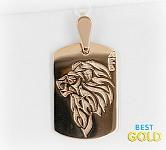 золотая подвеска лев