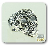 Серебряное кольцо с черепом