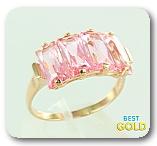 Золотое кольцо с марганитом