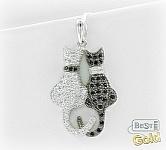 серебряная подвеска кошки