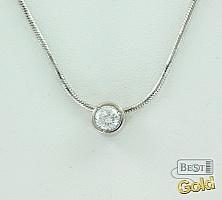 Колье из платины с бриллиантом