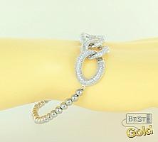 Серебряный браслет с цирконами