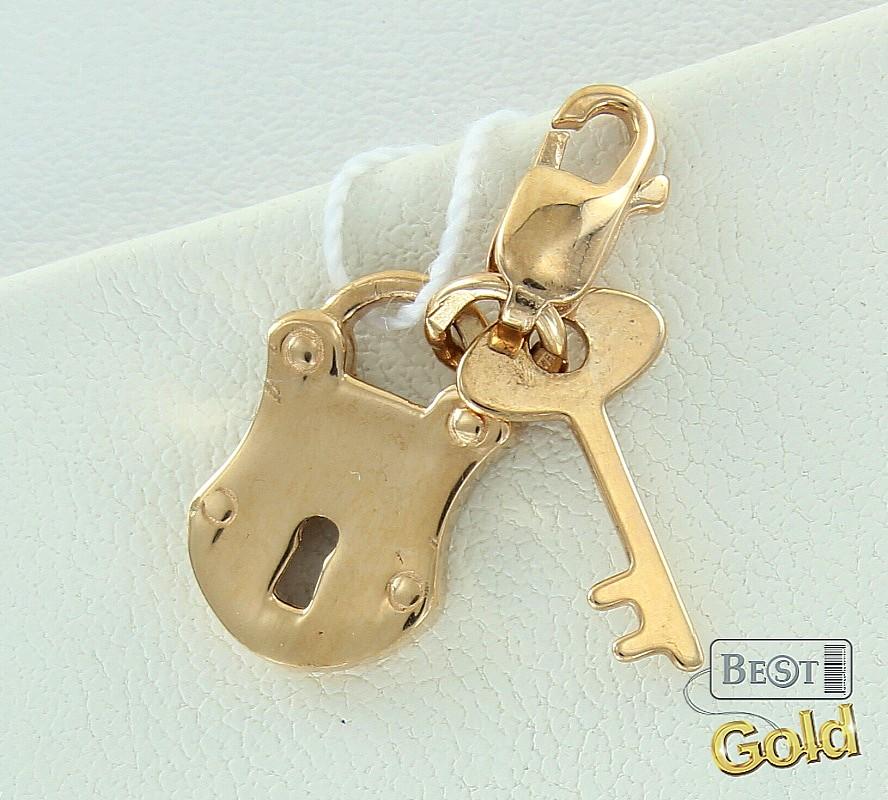 подвеска замок и ключ