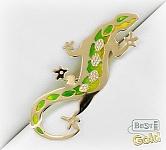 золотая брошь ящерица