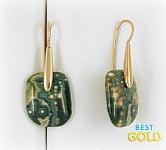 золотые серьги с агатом