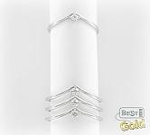 Серебряное фаланговое кольцо с цирконием