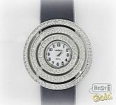 """Серебряные женские часы с фианитами """"Клара"""""""