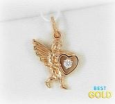 золотая подвеска ангелок