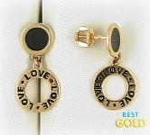 золотые серьги с надписью