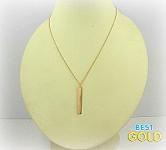 Колье из золота с прямоугольной пластиной