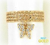 золотое кольцо неделька с подвеской