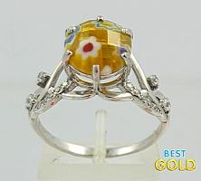 Кольцо из серебра с муранским стеклом