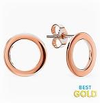 золотые пусеты с кольцом