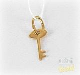 детская золотая подвеска ключ